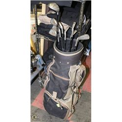 9PC JAZZ GOLF CLUBS WITH BAG.