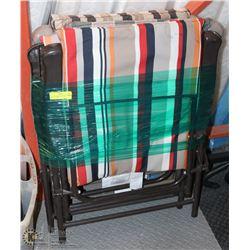 SET OF 4 PADDED SEAT & BACK METAL FRAME