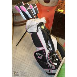 "SET OF GIRLS YOUTH ""CALLAWAY"" GOLF CLUBS WITH"