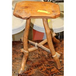 TREE BRANCH STOOL