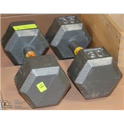 SET OF 2-30LB DUMBELLS