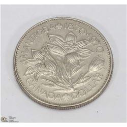 MANITOBA $1.00 CENTENNIAL COIN.