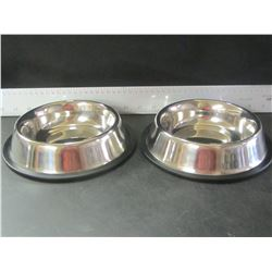 New set of Stainless steel Pet Bowls / small - medium pets