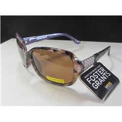 New Women's Polarized Foster Grant Sunglasses with Max block