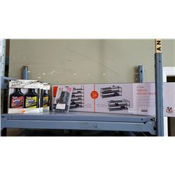NEW IN BOX SHOE RACK AND AUTOMOTIVE ITEMS