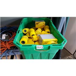 TOTE OF ELECTRICAL CONNECTORS