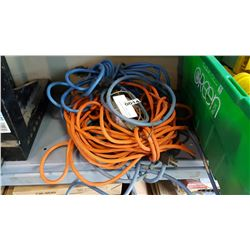 LOT OF EXTENTION CORDS AND TROUBLE LIGHT