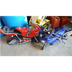 12 VOLT ELECTRIC MINI BIKE WITH PARTS BIKE WITH CHARGER WORKING