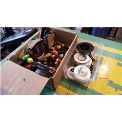 TRAY OF FISHING LINE AND FLOATS