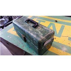 GREEN RETRO PLANO TACKLE BOX WITH CONTENTS