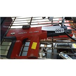 HILTI DX 450 POWDER ACTUATED FASTENING TOOL