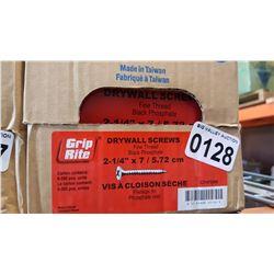 CASE OF 2 1/4 INCH DRYWALL SCREWS 6 X 500 PIECES