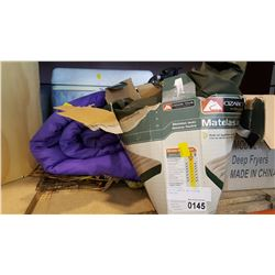 LOT OF CAMPING AND FISHING SUPPLIES