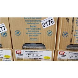 CASE OF 1 1/2 INCH EXTERIOR SCREWS 20 X 100 PCS
