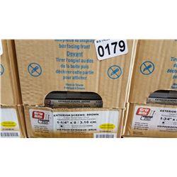 CASE OF 1 1/4 INCH EXTERIOR SCREWS 20 X 100 PCS