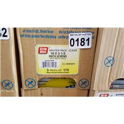 CASE OF 3 1/2 INCH DECK SCREWS 3 X 175 PCS