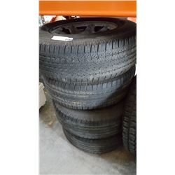 FOUR GOOD YEAR WRANGLER 17 INCH TIRES AND SNOW TIRE