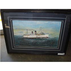 STEAMER SHIP PRINT