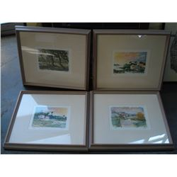 FOUR LIMITED EDITION PRINTS