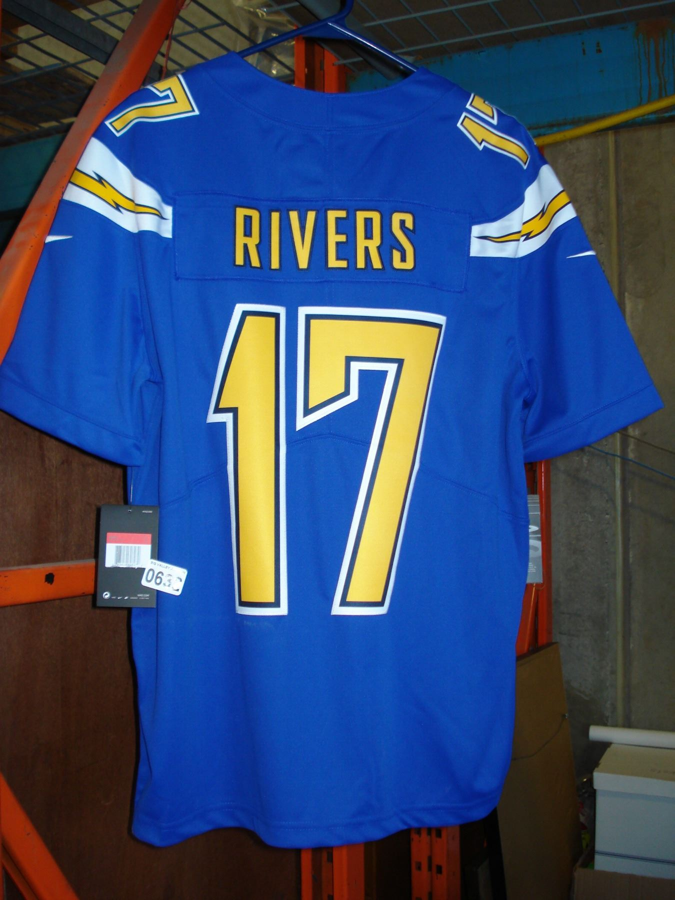 new product 1a605 0eb88 NEW SAN DIEGO CHARGER PHILIP RIVERS JERSEY, AUTHENTIC SIZE LARGE