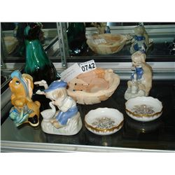 LOT OF COLLECTIBLE PENDULFIN FIGURES AND BLUE MOUNTIAN ETC