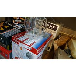 MR COFFEE AND HUMIDIFIER AND CRAFT BEER SYPHON