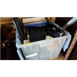 TOTE OF LAPTOPS AND COMPUTER ITEMS