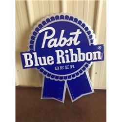 PABST BLUE RIBBON TIN BEER SIGN