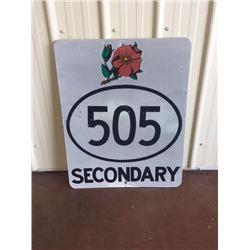 HIGHWAY 505 WILDROSE SIGN