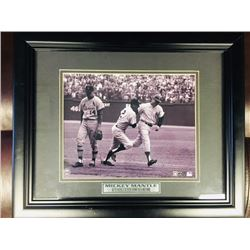 FRAMED MLB PRINT MICKEY MANTLE SETS WORLD SERIES HOME RUN RECORD