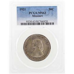 1921 Missouri Centennial Commemorative Half Dollar Coin PCGS MS63