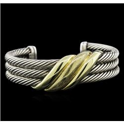 David Yurman Sterling Silver and 14KT Yellow Gold Bracelet