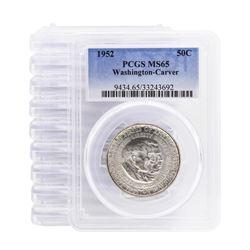 Lot of (10) 1952 Washington-Carver Commemorative Half Dollar Coin PCGS MS65