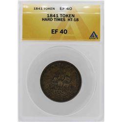 1841 Hard Times Daniel Webster Token ANACS XF40