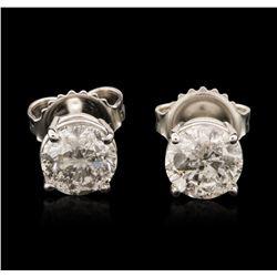 14KT White Gold 1.53 ctw Diamond Stud Earrings