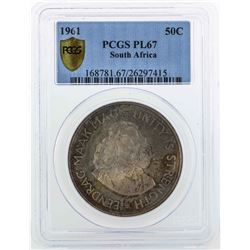 1961 South Africa 5C Coin PCGS PL67