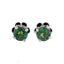 1.19 ctw Alexandrite Stone Earrings - 14KT White Gold