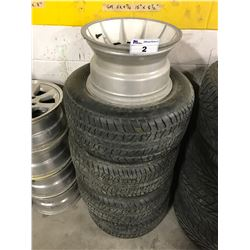 4 BF GOODRICH TIRES FOR A GM 5X 4 3/4 15X8.5INCH TIRES