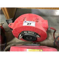 RED 50FT AIR HOSE AUTO REWINDING REEL