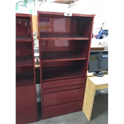 TEKNION FILE CABINET WITH SHELF