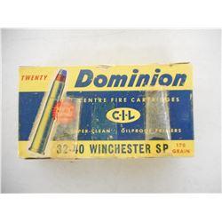 DOMINION 32-40 WINCHESTER AMMO