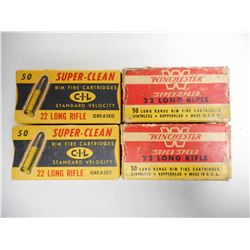 ASSORTED ANTIQUE 22 AMMO