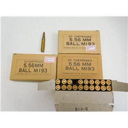 5.56 MM BALL M193 AMMO