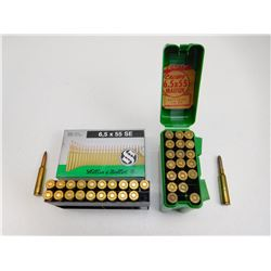 ASSORTED 6.5 X 55 AMMO