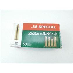 SELLIER & BELLOT 38 SPL AMMO