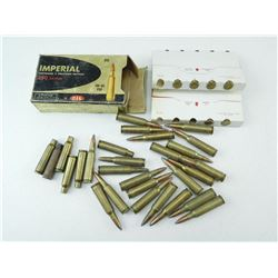 ASSORTED 250 SAVAGE AMMO/ RELOADS