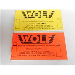 WOLF 38 SPL RELOADS