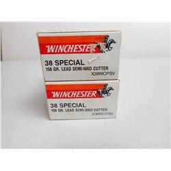 WINCHESTER 38 SPL AMMO
