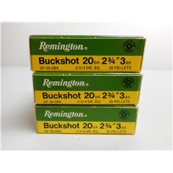 "REMINGTON 20 GA 2 3/4"" AMMO"