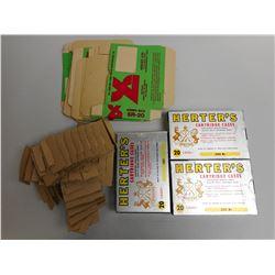 HERTER'S CARTRIDGE CASES & EMPTY BOXES